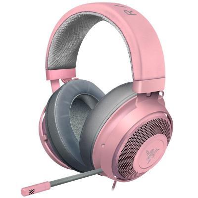 雷蛇(Razer)北海巨妖 粉晶版2019新款 清凉凝胶耳罩 游戏耳机 女生电竞耳机 粉色耳机