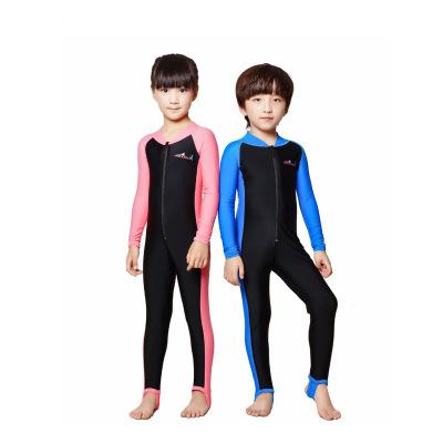 兒童潛水服男女沙灘防紫外線泳裝漂流浮潛連體水母泳衣