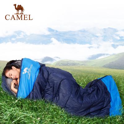 CAMEL駱駝戶外睡袋 露營旅行隔臟可拼接雙人室內成人睡袋