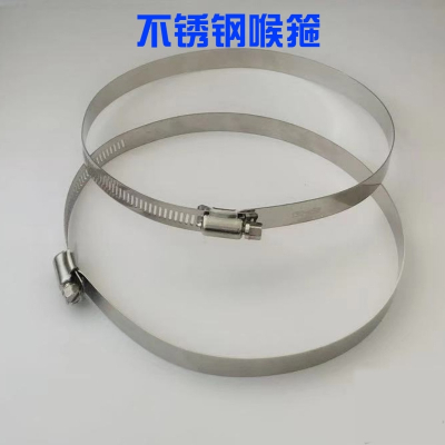 特大201不锈钢喉箍美式全钢喉箍通信卡箍电线杆全孔抱箍监控卡箍 直径400mm(全孔)