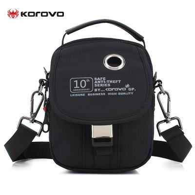 KOROVO壳罗沃斜挎包单肩包穿皮带小腰包安全防盗多功能时尚男手机包