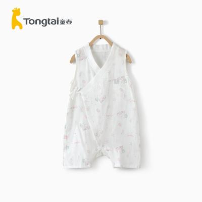 童泰新款夏季嬰兒衣服5-24月嬰幼兒無袖連體衣男女寶寶純棉哈衣