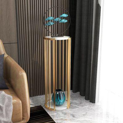 邁菲詩北歐輕奢花架室內擺件花盆落地式新中式客廳置物架鐵藝電視花架子