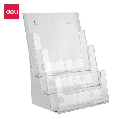 亞克力A4三層桌面資料展示架書報刊架雜志宣傳架名片盒批發