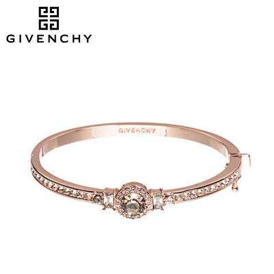 Givenchy/紀梵希 閃耀系列 施華洛世奇人造水晶玫瑰金色按扣式女士手鐲 60451086
