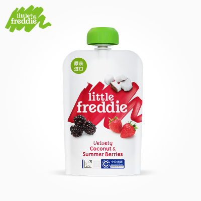 Little Freddie小皮 黑莓椰子草莓香蕉蘋果泥 100g