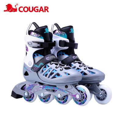 美洲狮(COUGAR)成人溜冰鞋 青少年大学生社团轮滑鞋溜冰鞋直排轮男女通用运动休闲鞋初学者