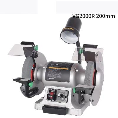 台式砂轮机220V磨刀钻头小型工业级抛光机平稳静音可调速 VG1500R无段变速砂轮机(6寸150mm)加送砂轮+变径圈