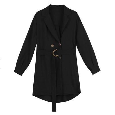 风衣女春秋新款西装外套女中长款显瘦长袖收腰小外衣披肩开衫