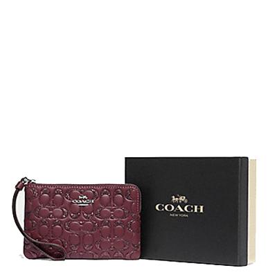 【19年礼盒版】蔻驰(COACH)女士钱包 零钱包 手包新款礼盒装送礼用 女包