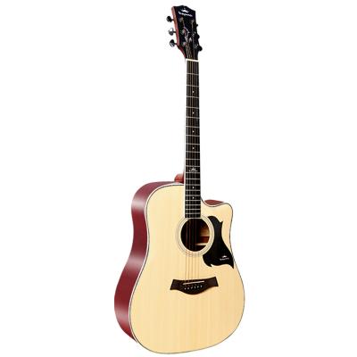 卡馬自營(KEPMA)D1CNM民謠吉他初學者木吉他入門吉它jita原木色41英寸