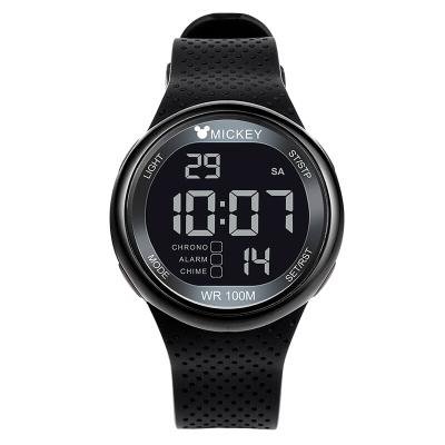 迪士尼儿童手表男孩夜光电子表 中学生手表多功能运动100M防水手表