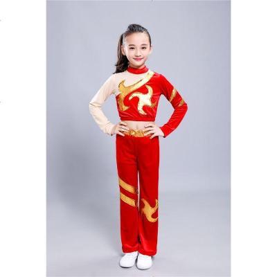 儿童竞技健美操比赛儿团体啦啦操服装演出服中小学生舞蹈拉拉队女