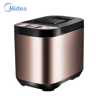 美的(Midea)面包機 ESC1510 智能多功能家用 支持輔料自動投放 仿土窖設計 酸奶機 蛋糕機 不銹鋼材質