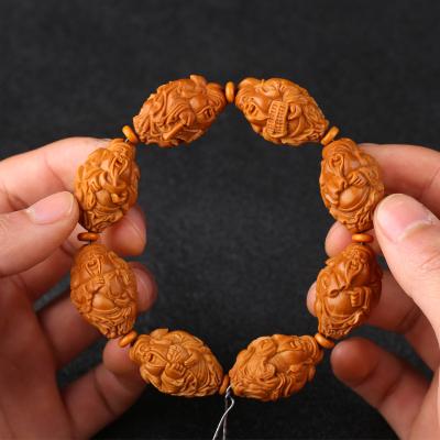 1.9八大财神橄榄核雕雕刻手串手链