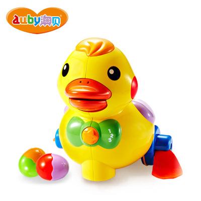 澳贝(AUBY) 益智玩具 乖乖小鸭 运动爬行婴幼儿童早教启智声光玩具 非充电塑料玩具 6-12个月 463318DS
