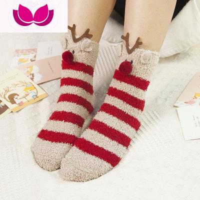 睡覺穿的襪子 冬季加厚睡眠襪套 成人保暖加絨男女中筒腳套