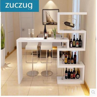 新款简易家用客厅靠墙吧台旋转吧台桌电脑桌餐厅隔断吧台酒柜小吧台架