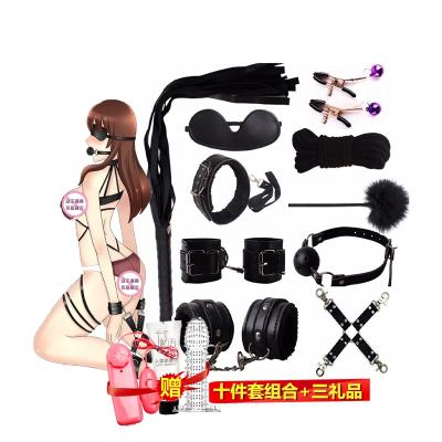 成人情趣SM用品組合套裝十件另類玩具男女共用捆綁束縛乳夾奶飾女性系列穿戴式口球口塞鞭子手銬刑具夫妻性生活女士久愛愛性工具