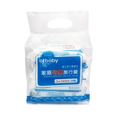 Otbaby嬰兒手口柔濕巾 (3加1連包 28p濕巾)