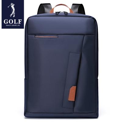 高爾夫(GOLF)雙肩包男商務時尚錦綸學生書包15.6英寸大容量電腦包2020新款旅行包潮