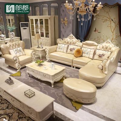 郎郡歐式沙發組合客廳小戶型簡歐茶幾家具輕奢歐美電視柜套裝別墅