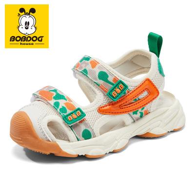 BOBDOG HOUSE巴布豆童鞋兒童涼鞋夏季男童女童寶寶1-3歲沙灘鞋B8658