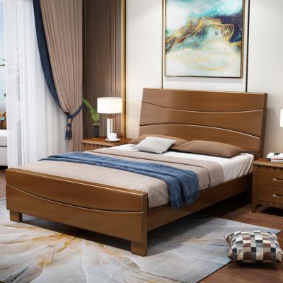 景山百岁 床 实木床 1米1.2米1.35米1.5米床 经济型出租房床 现代中式儿童床 卧室单人床 简约实木床 302#