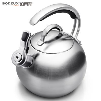 铂帝斯BODEUX 法兰西之风 304不锈钢烧水壶煤气燃气电磁炉通用鸣笛家用水壶