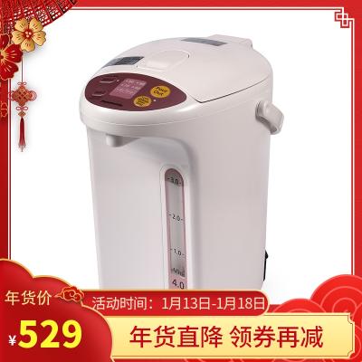 松下Panasonic 电热水瓶家用 智能4段保温电热水壶 备长炭内胆NC-EG4000 大容量4L电水瓶