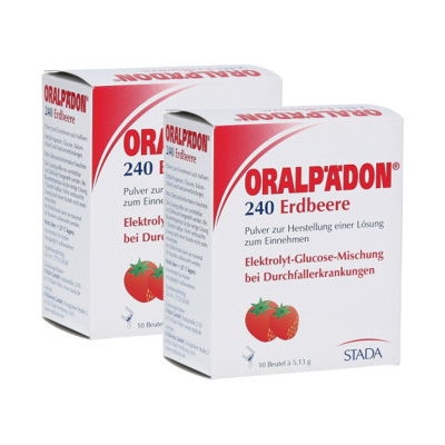 【2盒】德國進口STADA Oralpaedon電解質水草莓味 嬰幼兒童鹽補水沖劑沖調出汗高溫腹瀉拉肚子防脫水飲料