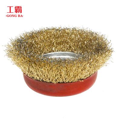 工霸(GONGBA)100型/125型 加厚加大精品大红碗型钢丝轮钢丝刷 孔16mm(20个)