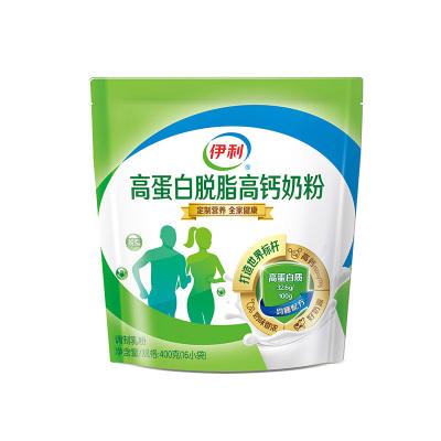 伊利 高蛋白脱脂高钙奶粉400g袋装(成人奶粉)
