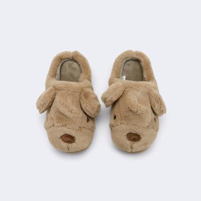 巴拉巴拉儿童棉拖鞋女男小童鞋2019冬季新款防滑软底保暖卡通萌趣