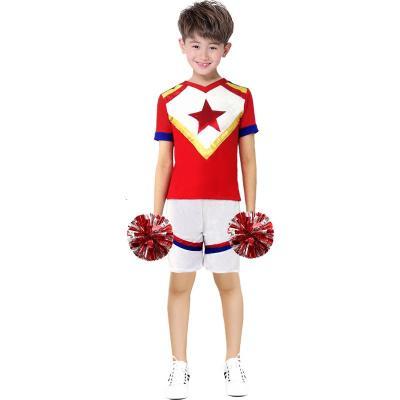 啦啦队服装女秋新款拉拉队运动会开幕式啦啦服装演出服舞蹈服女 款一 120
