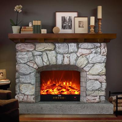 帝軒名典 1.2米/1.3米/1.42米/1.46米/1.5米歐式美式復古壁爐架裝飾柜 仿石頭壁爐架裝飾取暖壁爐芯