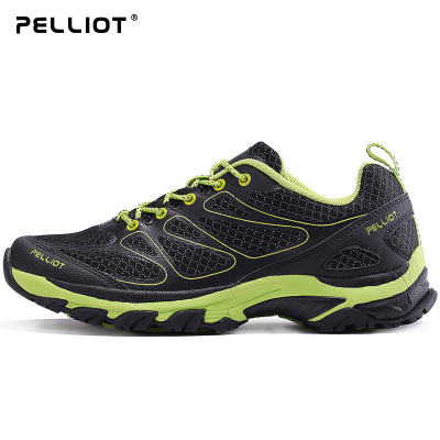 伯希和戶外越野跑鞋 男女撞色耐磨登山鞋輕便透氣休閑運動徒步鞋