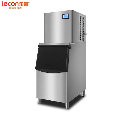 樂創(lecon)制冰機商用 全自動大型容量KTV奶茶店小型家用迷你方冰塊 商用大型制冰機 150KG分體式