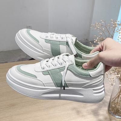 策霸2020秋季小白鞋女透氣運動網紅韓版百搭厚底休閑跑步鞋女學生板鞋