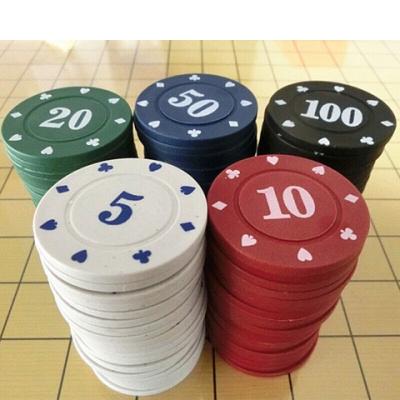 籌碼幣密胺德州撲克籌碼套裝麻將籌碼幣撲克密胺籌碼盒子酬碼 塑料籌碼小盒大數(80片裝)