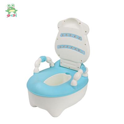 DuDi/青蛙嘟迪 兒童坐便器女寶寶嬰兒男便盆尿盆兒童馬桶座便器嬰兒坐便器馬桶寶寶坐便器 卡通奶牛座便器 藍色