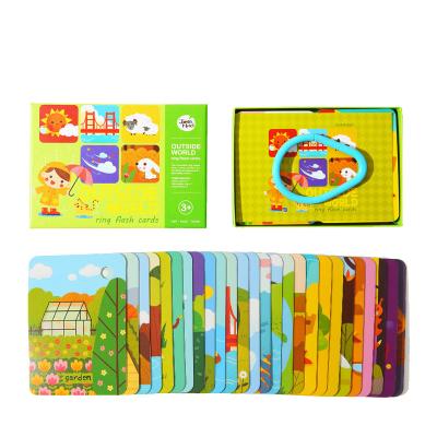 Joan Miro 美樂兒童卡片早教英語單詞識字0-1-3歲6嬰兒幼兒寶寶益智認知閃卡 戶外世界 益智玩具 早教
