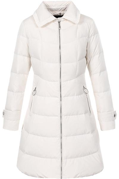 艾莱依O2O2018冬季新款时尚女装羽绒服女中长款外套