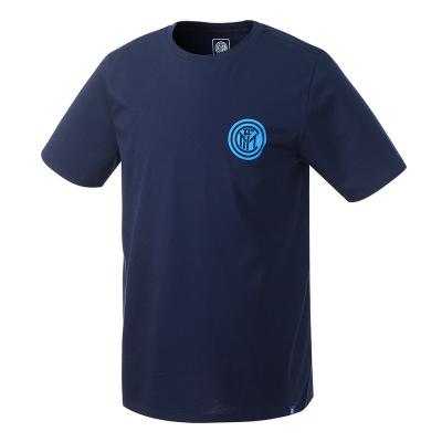 國際米蘭俱樂部2019年夏季新品高檔精梳絲光棉男士印花短袖運動圓領短款T恤