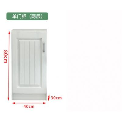 定制歐式陽臺柜子儲物柜大容量防曬多功能家用收納柜子雜物柜衣柜 長40深30高80單門2層 2門組裝