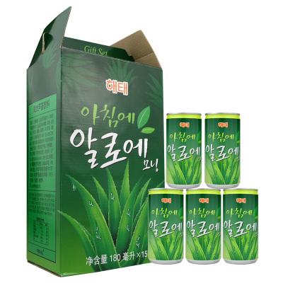 韓國進口海太(HAITAI)蘆薈汁180mlx15瓶整盒裝