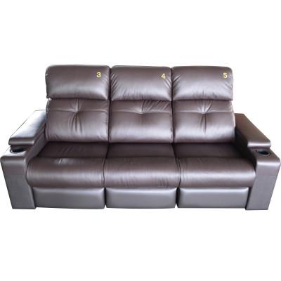 RD5812C VIP三人位刺绣号码牌真皮沙发