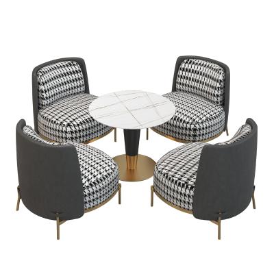 宮弗 輕奢售樓處洽談桌椅組合北歐商務會所酒店院會客區接待小圓桌