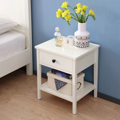 林氏木业北欧简约家用床头柜卧室经济型迷你柜子床边收纳柜DW1B
