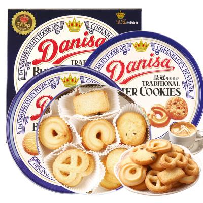 印尼進口Danisa皇冠丹麥曲奇餅干原味368g盒裝 黃油餅干糕點休閑零食送禮